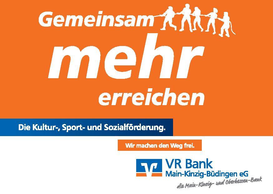 Mit freundlicher Unterstützung der VR Bank MKK-Büdingen